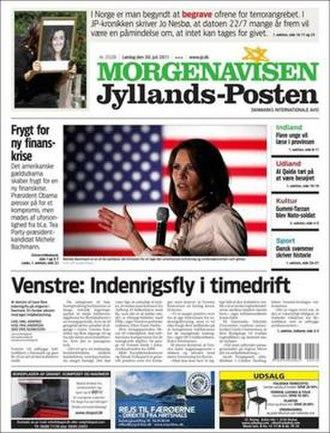 Jyllands-Posten - Image: Jyllands Posten 30 July 2011