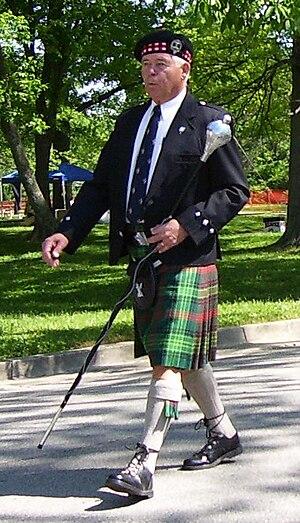 Kentucky Scottish Weekend - Jesse Andrews, President of the Kentucky Scottish Weekend, leading the Parade of Tartans at the 2007 weekend (photo taken 5/12/07)