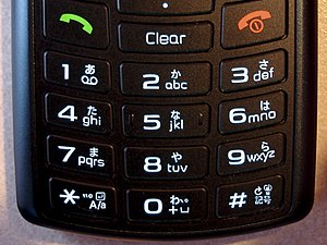 Japanese input methods - Japanese mobile phone keypad (Model Samsung 708SC)