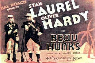 Beau Hunks - Theatrical poster for Beau Hunks (1931)