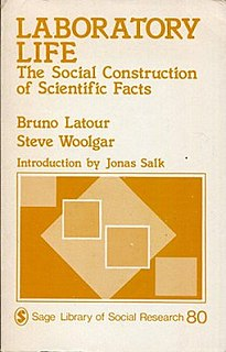 <i>Laboratory Life</i> book by Bruno Latour