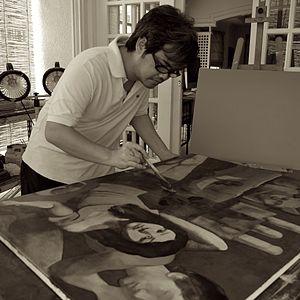 Marcel Antonio - Antonio in his studio, 2010