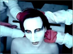 "Marilyn Manson in the music video for ""Th..."