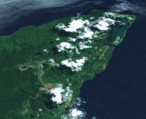Misima Island - Misima Mine and Bwagaoia from space
