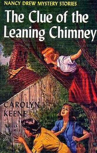 The Clue of the Leaning Chimney - Original edition cover