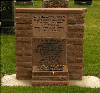 Norman Evans - Norman Evans' grave, Blackpool, Lancashire