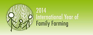 Family farm - Logo of International Year of Family Farming 2014
