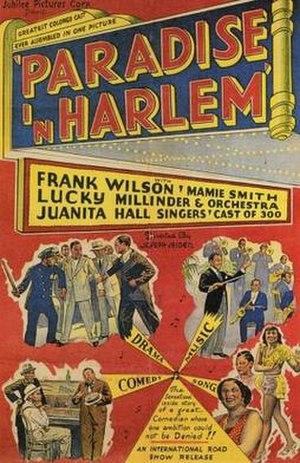 Paradise in Harlem - Image: Paradise in Harlem Film Poster
