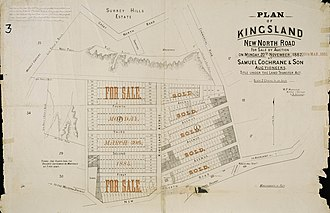 Kingsland, New Zealand - Plan of Kingsland, New North Road, for sale by auction on Monday 30 March 1885