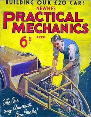 "Practical Mechanics - Cover to Practical Mechanics, ""The Car Any Amateur Can Make!"""