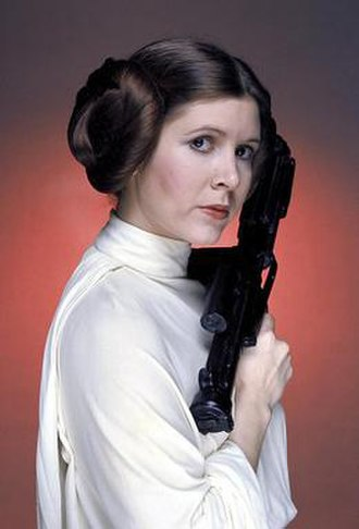 Princess Leia - Promotional photo of Fisher as Princess Leia for the original 1977 Star Wars film