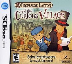 Profesoro Layton kaj la Scivolema Vilaĝa NA Boxart.JPG