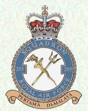 No. 205 Squadron RAF - 205 Sqn crest.
