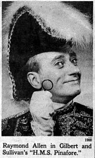 Raymond Allen (stage actor) American singer, actor and comedian