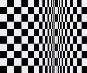 Bridget Riley - Movement in Squares, 1961, tempera on hardboard