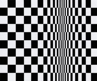 Op art - Movement in Squares, by Bridget Riley 1961