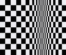 Movement in Squares, by Bridget Riley, 1961.