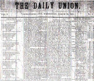 The Sacramento Union - Image: Sac Union Photo 03oldhead