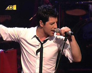 Live Ballads - Sakis Rouvas performing on February 14, 2006 at Athens College.