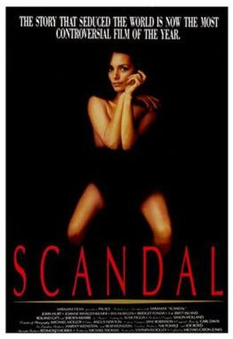 Scandal (1989 film) - Theatrical release poster