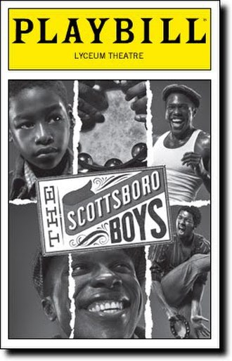 The Scottsboro Boys (musical) - Broadway playbill
