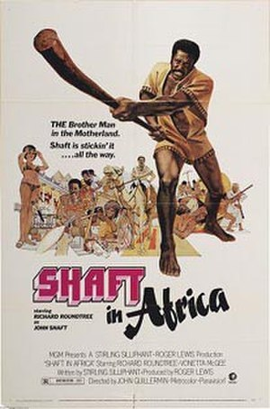 Shaft in Africa - Original theatrical release poster by John Solie