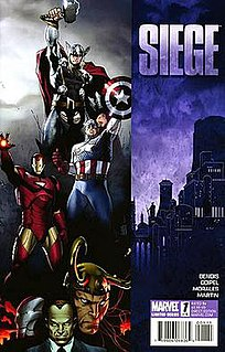 """Siege (comics) Marvel comic book storyline dealing with the culmination of the """"Dark Reign"""" storyline"""