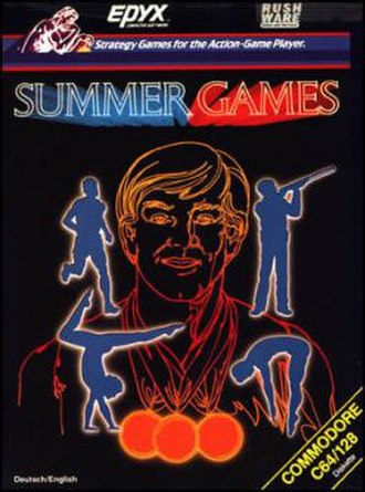 Summer Games (video game) - Commodore 64 cover art