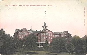 Indiana University of Pennsylvania - Postcard depicting John Sutton Hall at Indiana Normal School