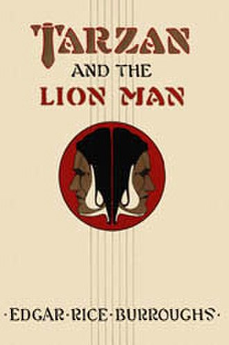 Tarzan and the Lion Man - Dust-jacket illustration of Tarzan and the Lion Man
