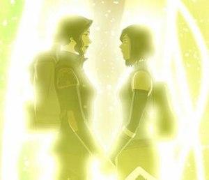 Asami Sato - Image: The Legend of Korra S04E12 Asami and Korra holding hands