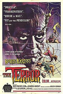 <i>The Terror</i> (1963 film) 1963 film by Jack Nicholson, Roger Corman, Francis Ford Coppola, Jack Hill, Monte Hellman