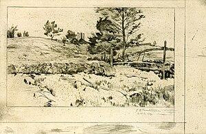 Branchville, Connecticut - Branchville Fields by John Henry Twachtman, ca. 1888