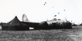 Twelve O'Clock High - Paul Mantz deliberately crash-lands B-17G AAF Ser. No. 44-83592 at Ozark AAF, Alabama, in June 1949 for the filming of Twelve O'Clock High.
