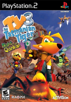 Ty the Tasmanian Tiger 3: Night of the Quinkan - Image: Ty the Tasmanian Tiger 3 Night of the Quinkan Coverart