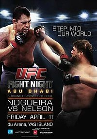 A poster or logo for UFC Fight Night: Nogueira vs. Nelson.