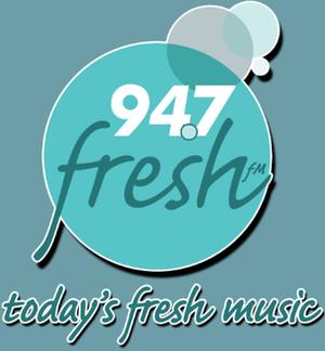 """WIAD - First logo of """"Fresh FM""""."""