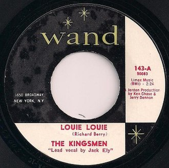 Louie Louie - Image: Wand 143 Label