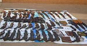 ATF gunwalking scandal - Image: Weapons Seized Naco Sonora 20 Nov 2009