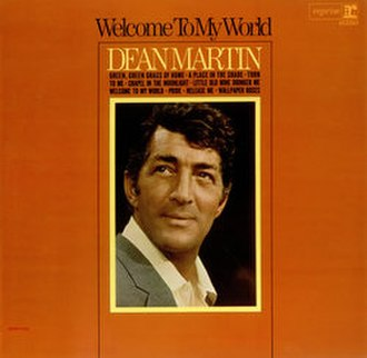 Welcome to My World (Dean Martin album) - Image: World Dean Martin
