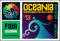 Official logo of the 2013 FIBA Oceania Championship
