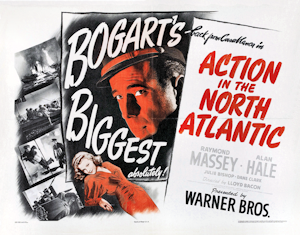 Action in the North Atlantic - 1943 Film poster