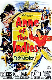 <i>Anne of the Indies</i> 1951 film by Jacques Tourneur
