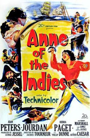 Anne of the Indies - Original film poster