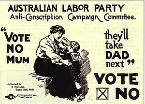 An Australian anti-conscription poster from Wo...