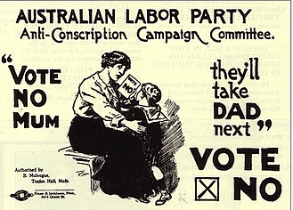 Peace movement - An Australian anti-conscription poster from World War I