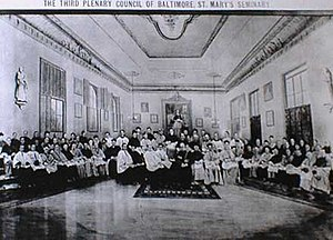 Plenary Councils of Baltimore - The Third Plenary Council of Baltimore (1884) set Church policy for the US