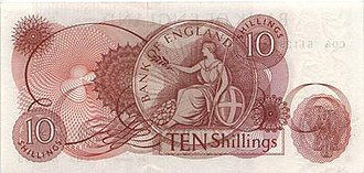 Bank of England 10s note - Image: Bank of England 10s reverse