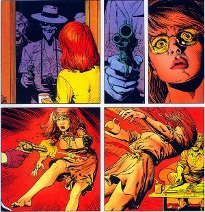Barbara Gordon - The Joker shoots Barbara Gordon in Batman: The Killing Joke. The injury results in the character's paralysis.