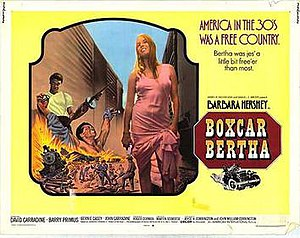 Boxcar Bertha - Theatrical release poster